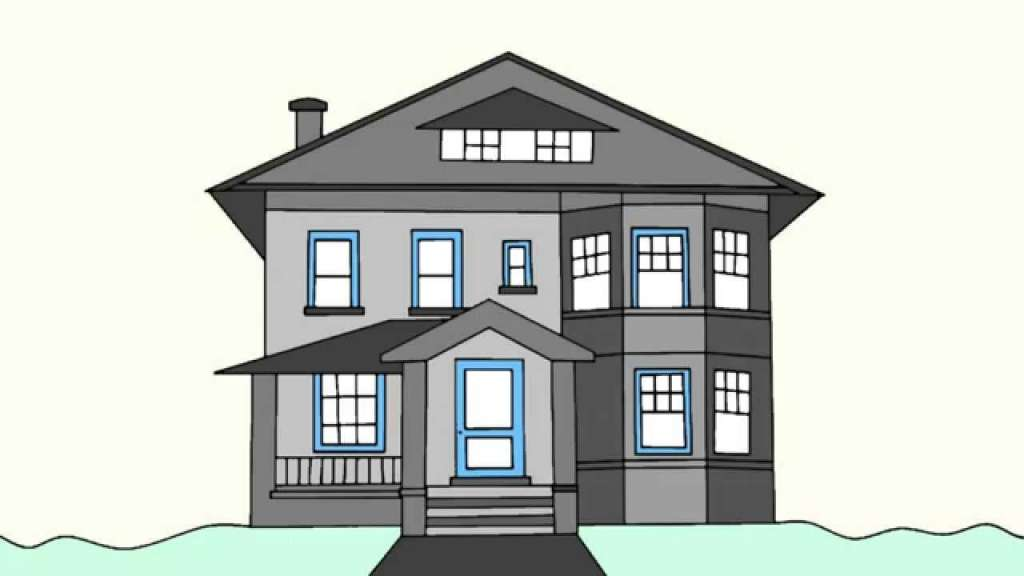 Draw Big House Pencil Art Drawing