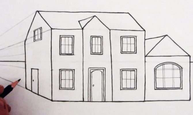 Draw House One Point Perspective Narrated Youtube