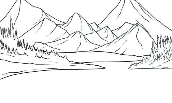 Draw Lake Step Landscapes Landmarks