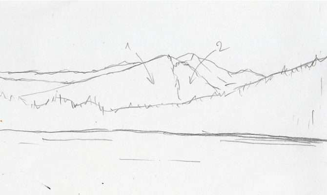Draw Mountains Easy Steps Craftsy Blog