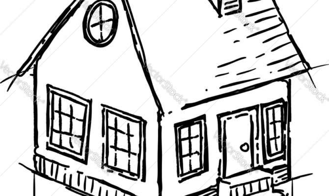 Drawing Small House Draw Easy