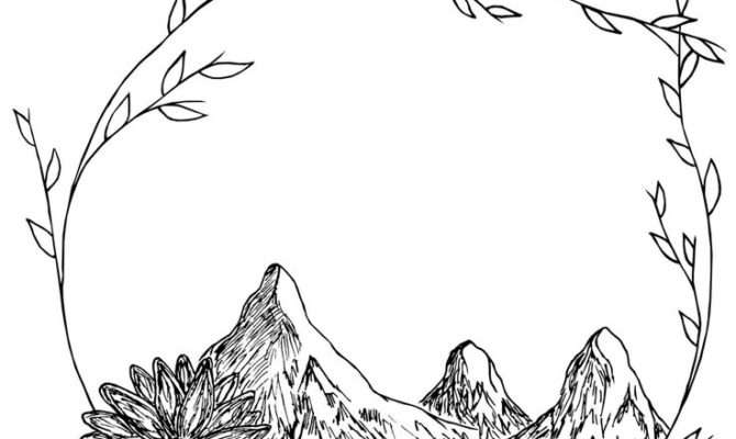 Drawn Mountain Cool Pencil Color