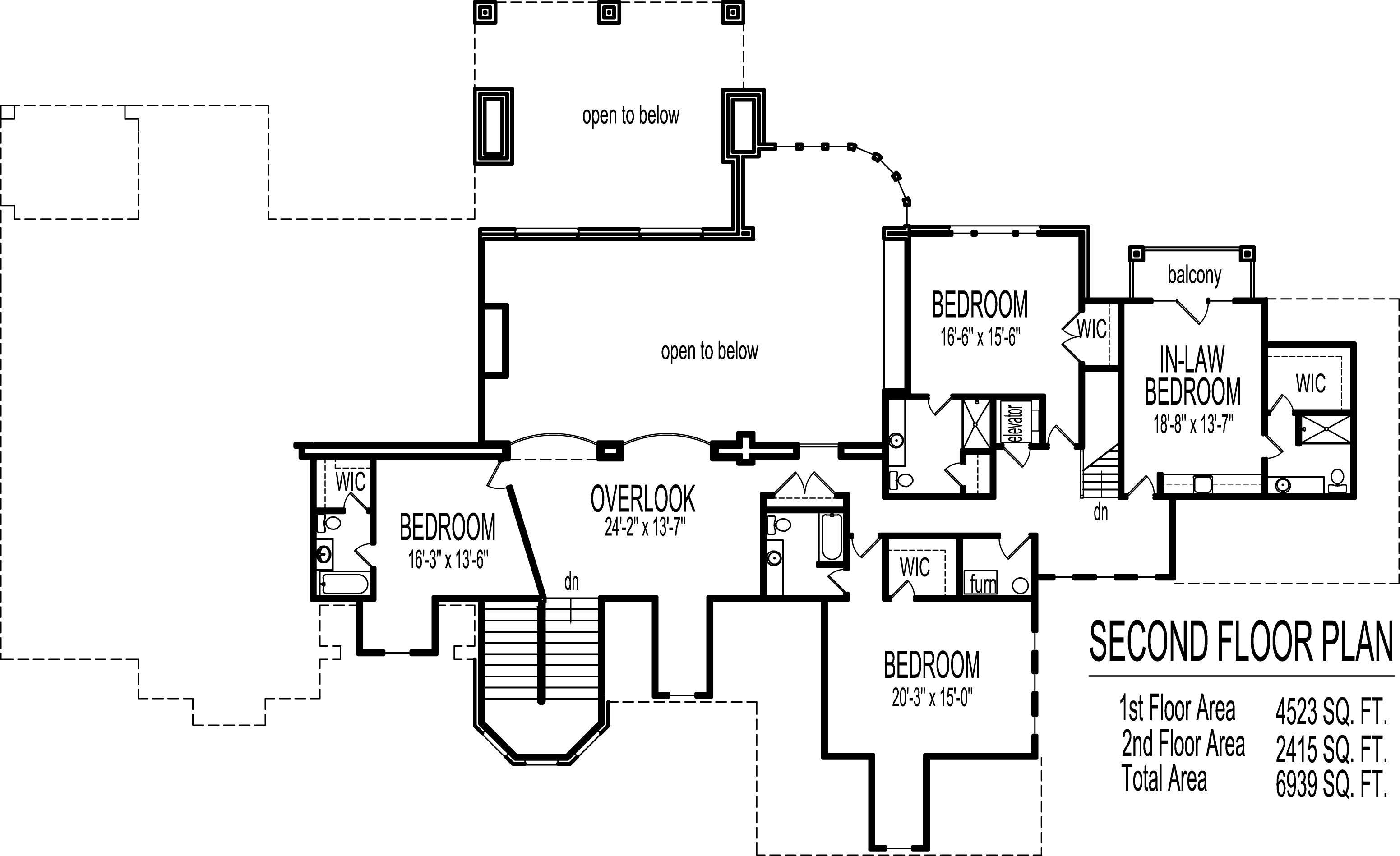 Dream House Floor Plans Blueprints Story Bedroom Large