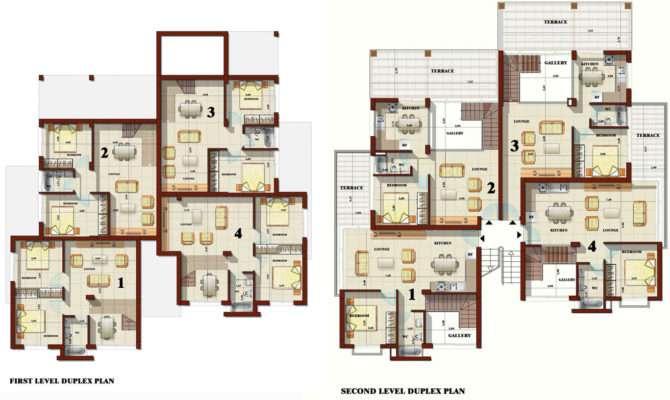 Duplex Apartment Plans Modern House Plan