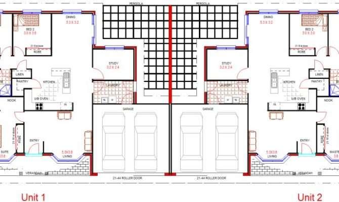 Duplex Design Bedroom Double Garage House Plans Sale