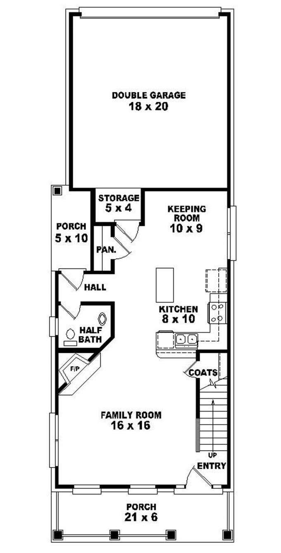 Duplex Floor Plan Narrow Lots Dashing New Great