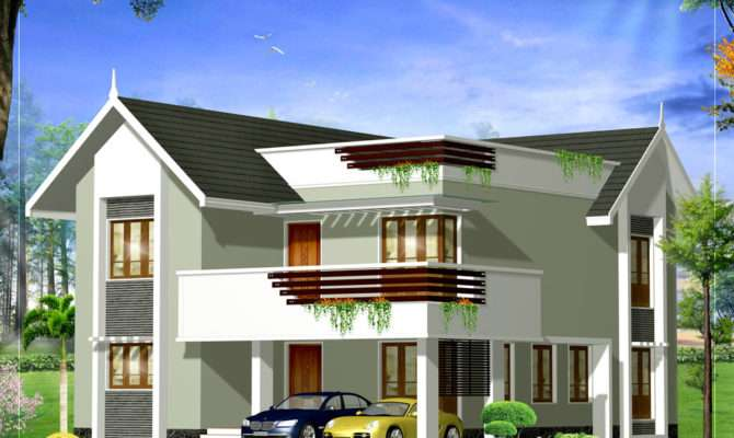 Duplex House Elevation Square Yards