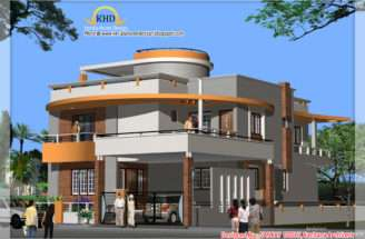 Duplex House Plan Elevation Kerala Home Design Floor Plans