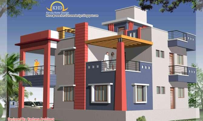 Duplex House Plan Elevation