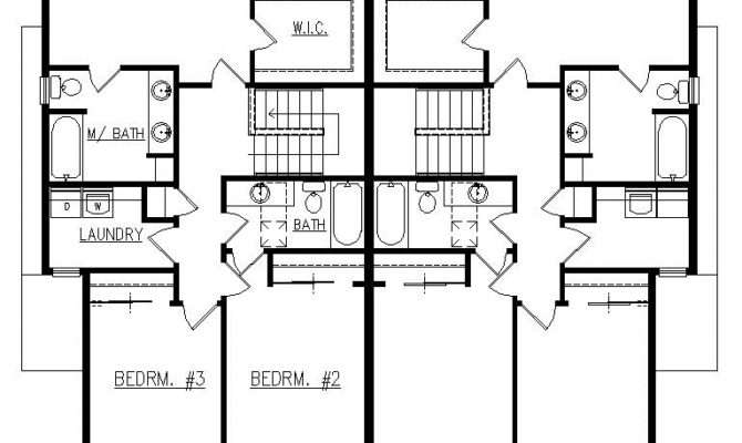 Duplex Plans Bedroom Bath Garage Joy Studio