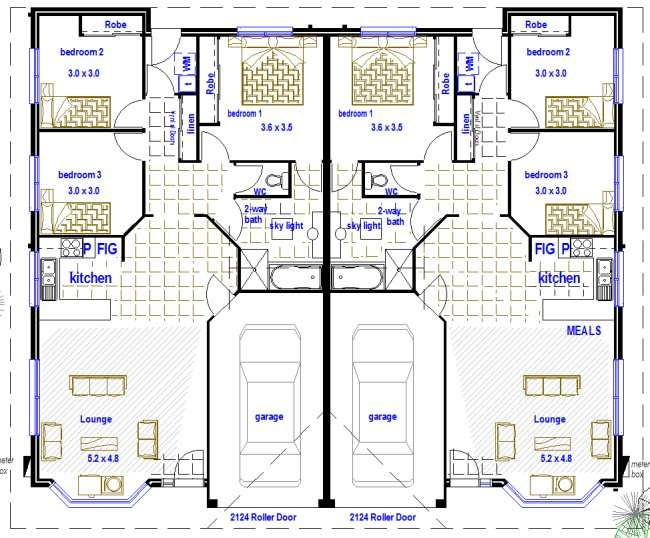 Duplex Plans Bedroom Real Estate