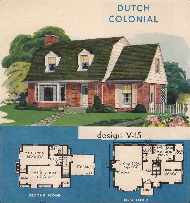 Dutch Colonial Home Plans Floor