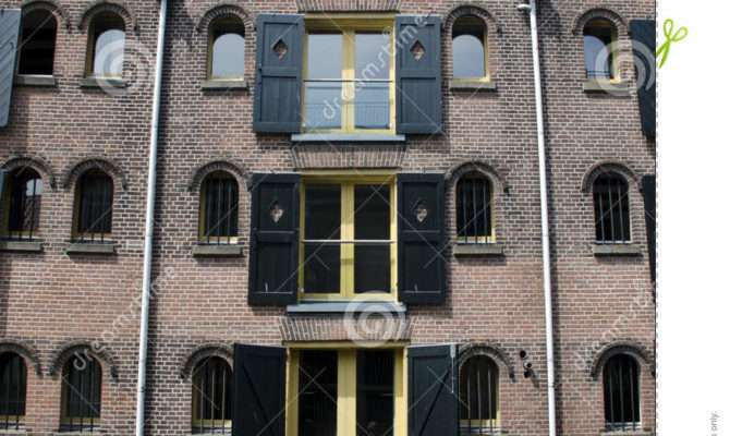 Dutch Four Story Canal House Editorial Photography