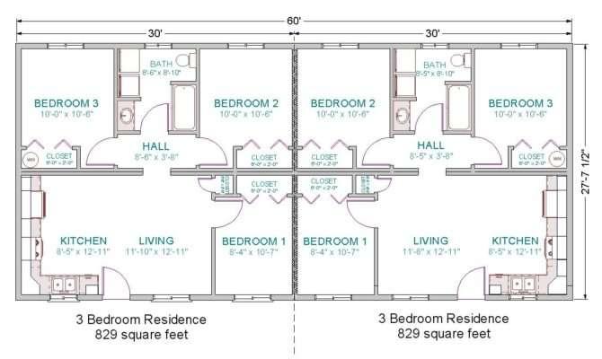 Each Unit Duplex Includes Square Feet Bedrooms