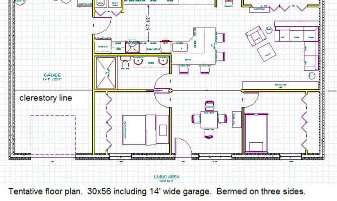 Earth Sheltered Home Plans Basement