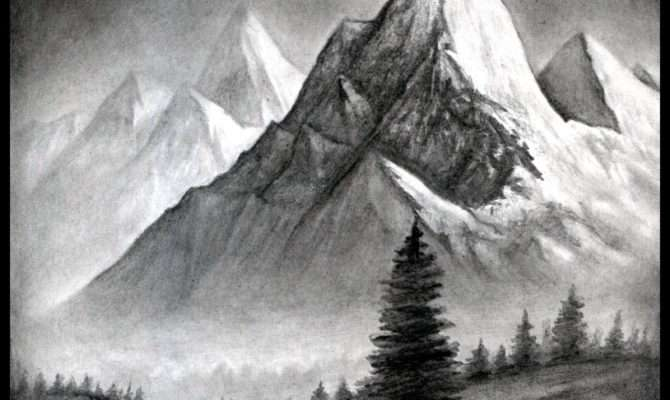 Easy Mountain Landscape Drawing Draw Realistic