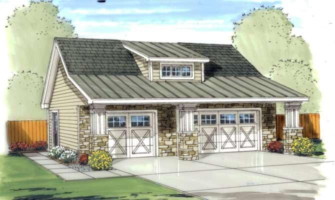 Echoridge Bungalow Car Garage Plan House Plans More