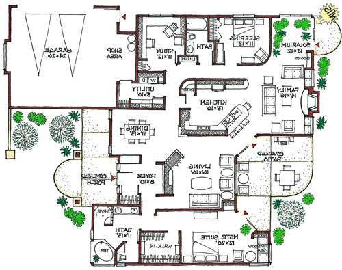 Eco Friendly Floor Plans Homes