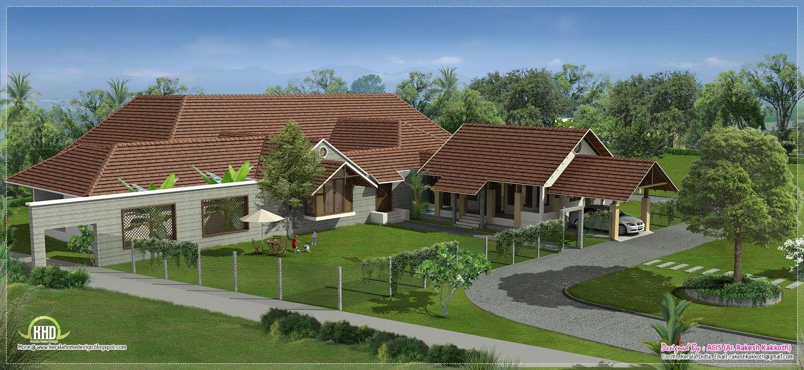Eco Friendly Houses Luxury Bungalow Exterior Design
