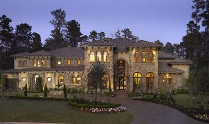 Eileen Home Design Stone Stucco Mansion Sale