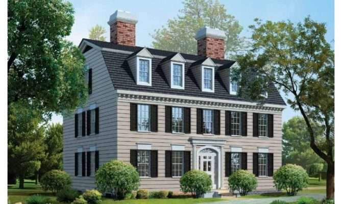 Elegance Federal Style House Plans Design