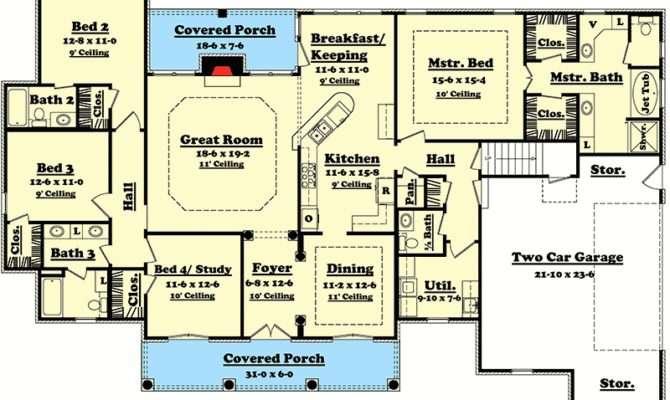 Elegant Bedroom House Plan Options