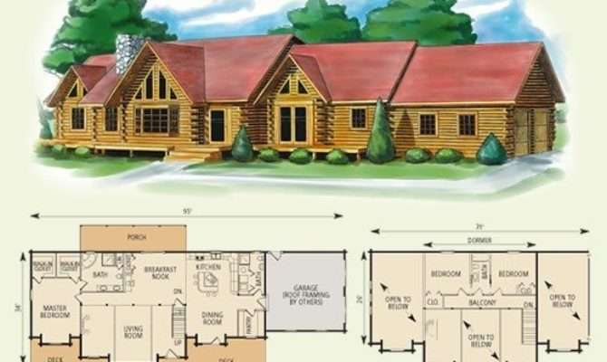 Elegant Bedroom Log Cabin Floor Plans New Home