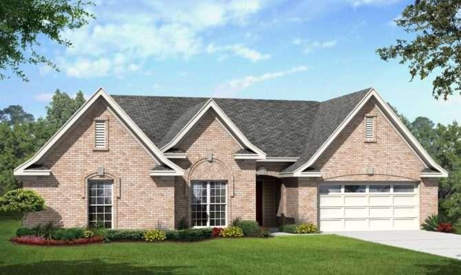 Elegant Brick Ranch Home Plan Floor Master