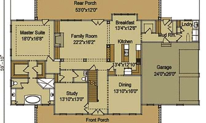 Elegant Farmhouse Home Plan Architectural