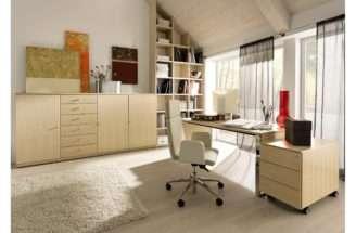 Elegant Home Office Design Interior Exterior Plan