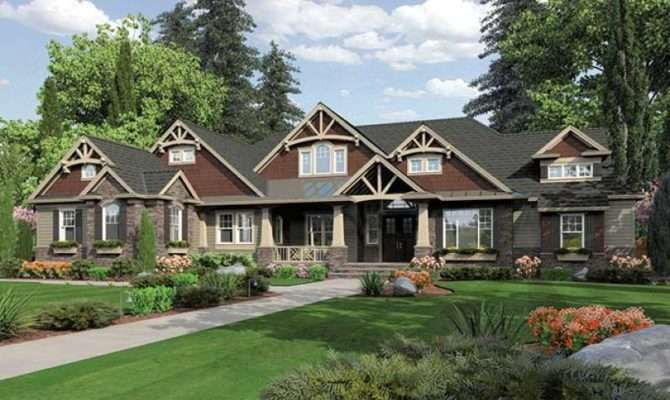 Elegant Lodge Style Home Hwbdo Traditional Builderhouseplans