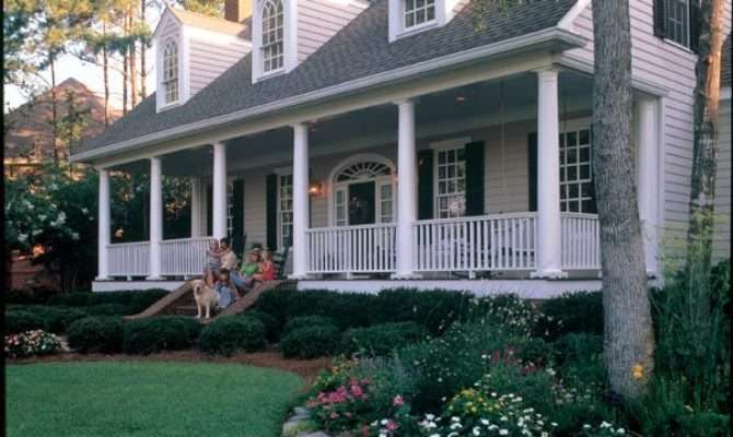 Elevation Cape Cod Colonial Farmhouse Southern House