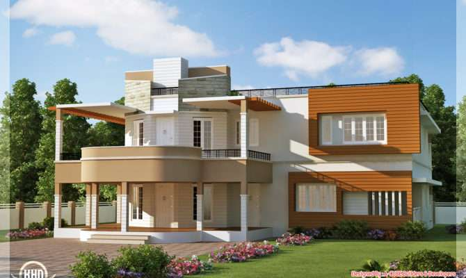 Elevation Unique Trendy House Kerala Home Design Floor Plans