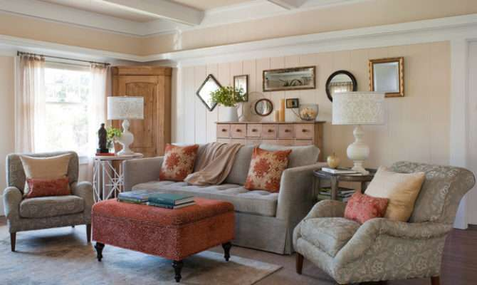 Empty Nesters Bungalow Decorating Craftsman Living