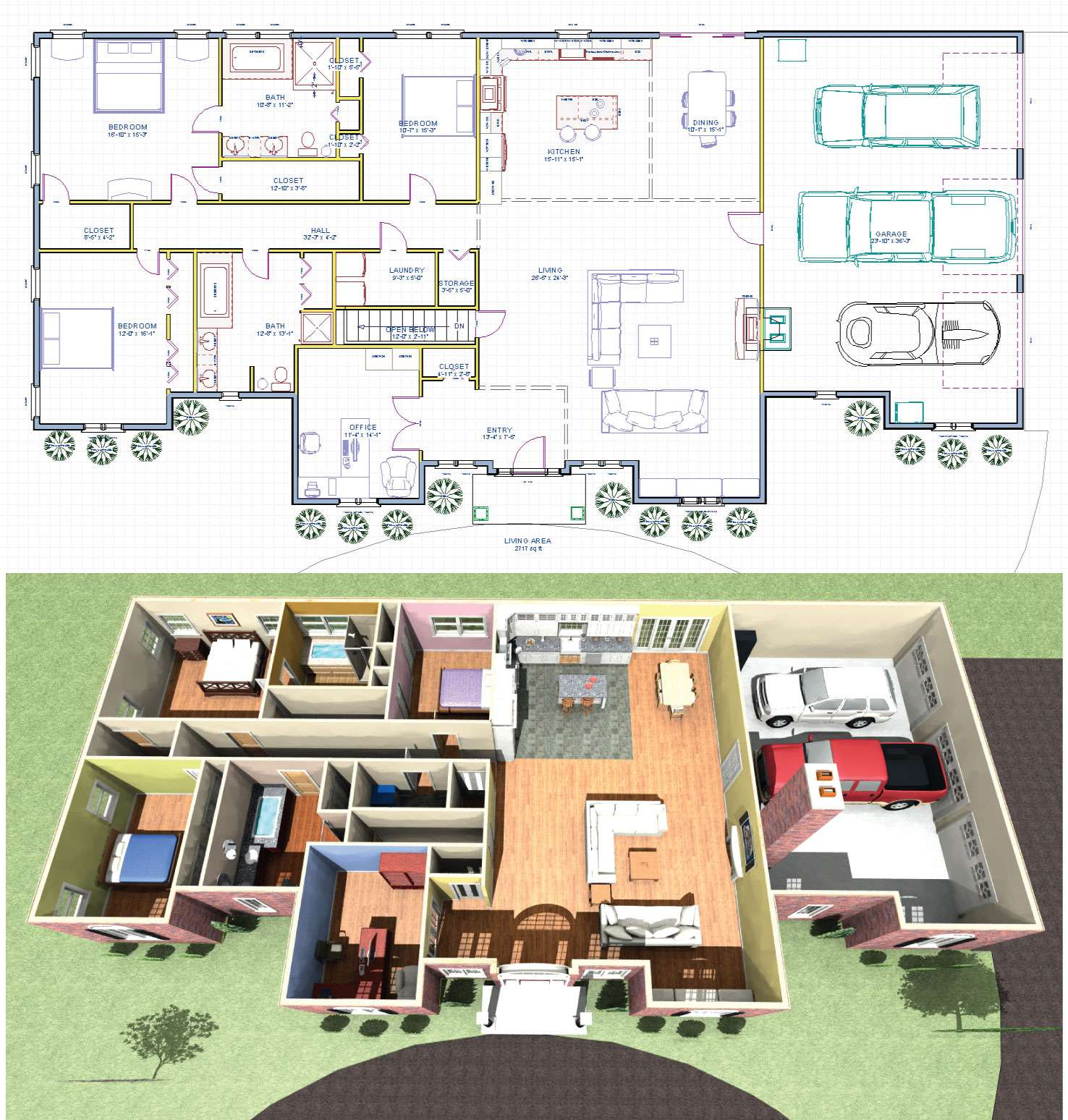 Enchanting Farmington Ranch House Plan