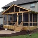 Enjoy Evening Backyard House Screened Porch