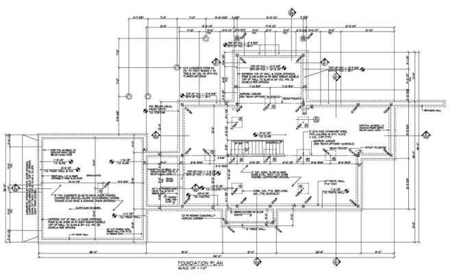 Enlarged Foundation Floor Plan