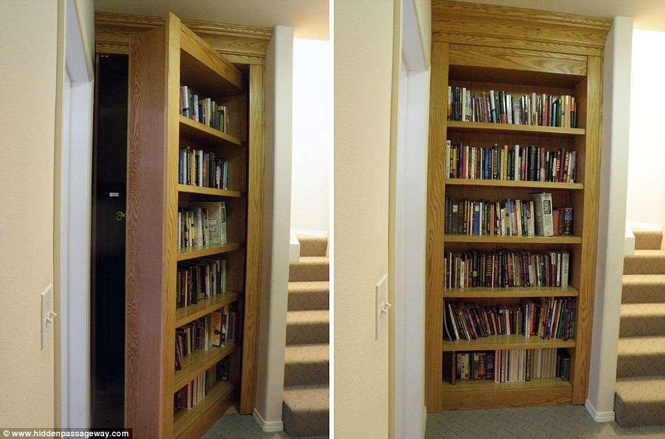 Entrance Secret Chamber Hidden Beneath Array Books