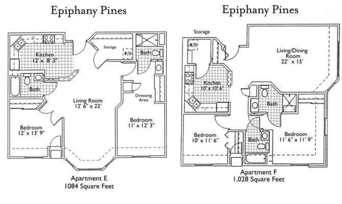 Epiphany Senior Living Floor Plans
