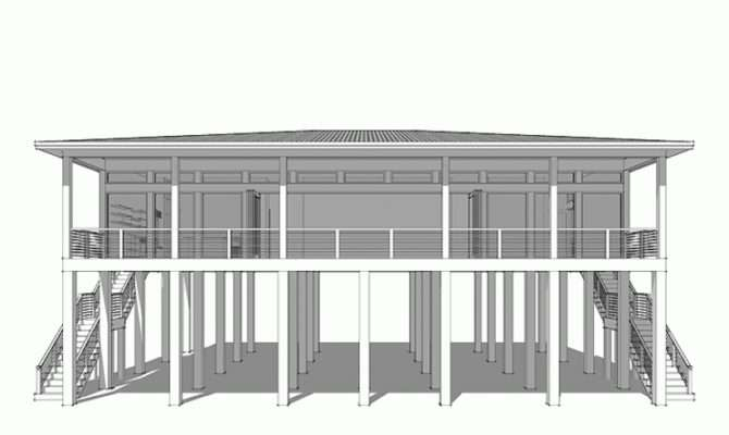 Eplans Contemporary Modern House Plan Four Bedroom