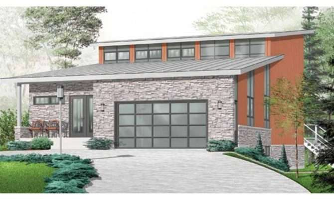 Eplans Contemporary Modern House Plan Three Bedroom Square