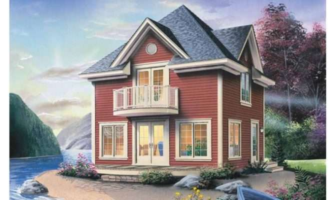 Eplans Cottage House Plan Cozy Lakefront Vacation Home Square