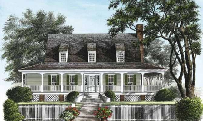 Eplans Cottage House Plan Low Country Square Feet
