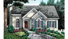 Eplans Cottage House Plan Stucco Stone Exterior Square