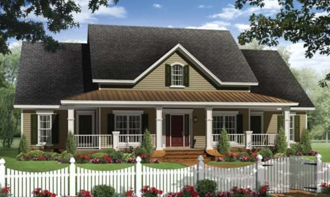 Eplans Country House Plan Four Bedroom Farmhouse Rear Side