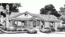 Eplans Country House Plan Simple Brick Charmer Square Feet