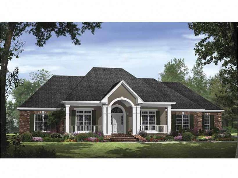 Eplans Country House Plan Traditional Style Open Floor