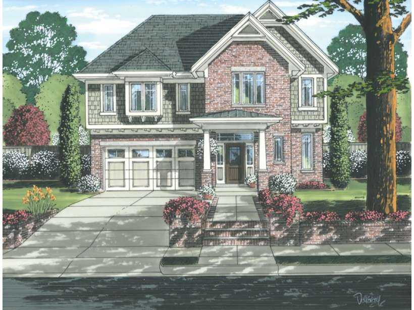 Eplans Craftsman House Plan Narrow Lot Two Story Spacious Rooms