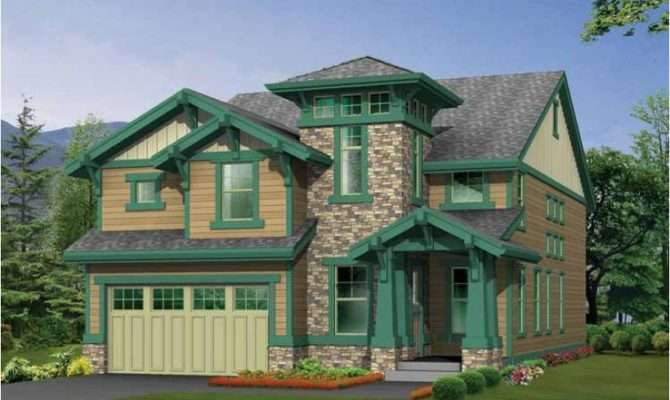 Eplans Craftsman House Plan Unique Tower Adds Curb Appeal