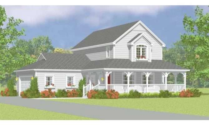 Eplans Farmhouse House Plan Easy Build Two Story Square